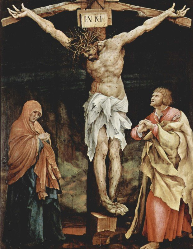 Frida Kahlo symbolism Matthias Grünewald, Christ on Cross, 1470-1528, originally on the other side of the panel known as the Tauberbischofsheim altarpiece