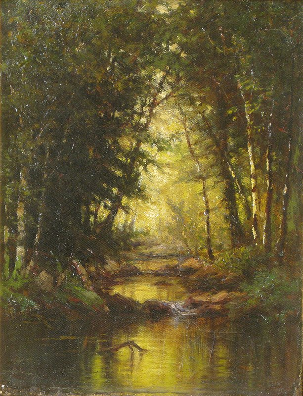 hudson river school female painters Susie Barstow; Sunshine in the Woods; no date; private collection