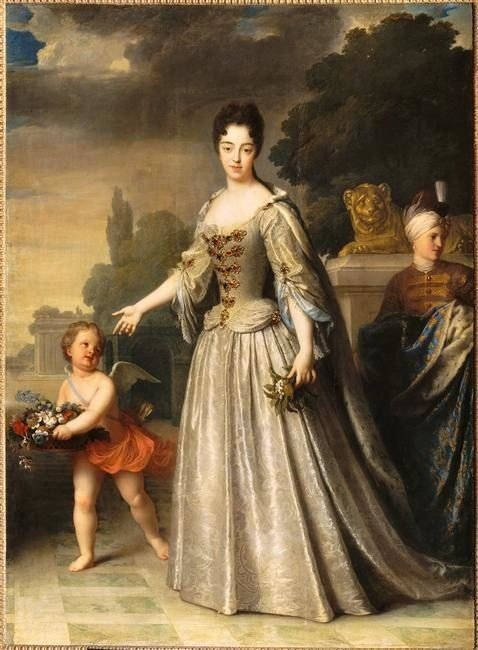 Marie-Adelaide de Savoie, duchesse de Bourgogne, Jean Jean-Baptiste Santerre, 1709, Palace of Versaille, how did women dress in the 18th century