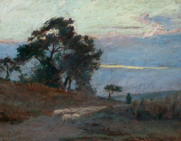 Landscape at Sunrise, Maksymuilian Gierymski, 1869, National Museum in Warsaw, Gierymski brothers