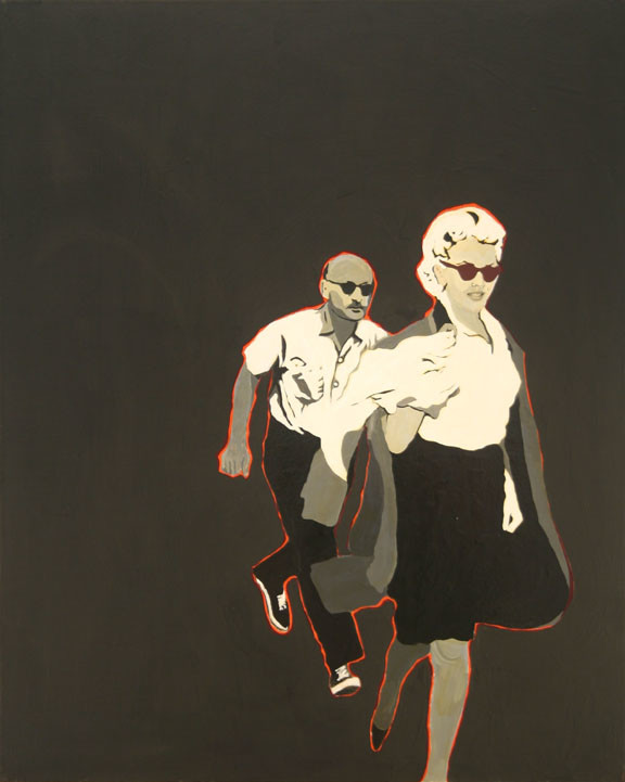 Marilyn Monroe in art Marylin Monroe in art Rosalyn Dexler (1967) Marilyn Pursued By Death © Rosalyn Drexler