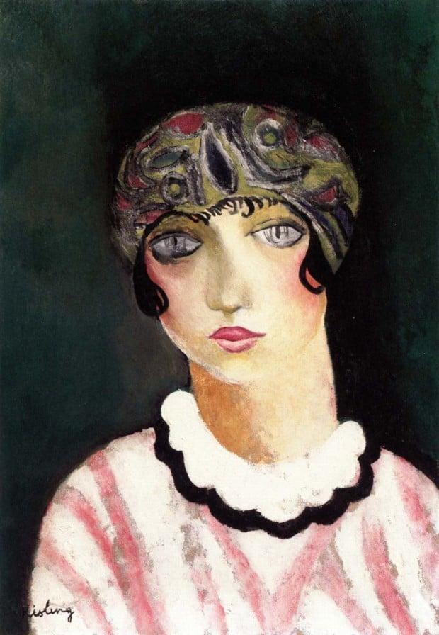 Kiki de Montparnasse Moise Kisling - Kiki of Montparnasse, 1924 [Alice Ernestine Prin, nicknamed Queen of