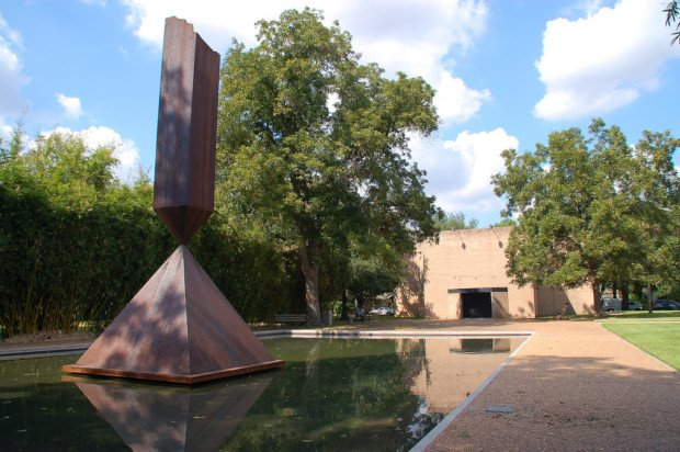 The Rothko Chapel: Barnett Newman, Broken Obelisk, 1967, in front of the Rothko Chapel, Houston, TX, USA. Photo by Kewing/Flickr, CC-BY-NC 2.0.