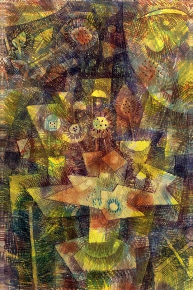 Paul Klee,Herbstblumen Stilleben (Still life with autumn flowers) , 1925, private collection, autumn klee