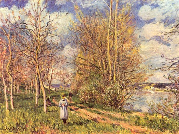 The Small Meadows in Spring, Alfred Sisley, 1880-1881, National Gallery, London, best landscape paintings