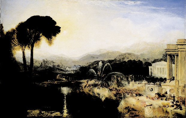 Fountain of Indolence, J.M.W Turner, 1834, Beaverbrook Art Gallery, Fredericton, best landscape paintings