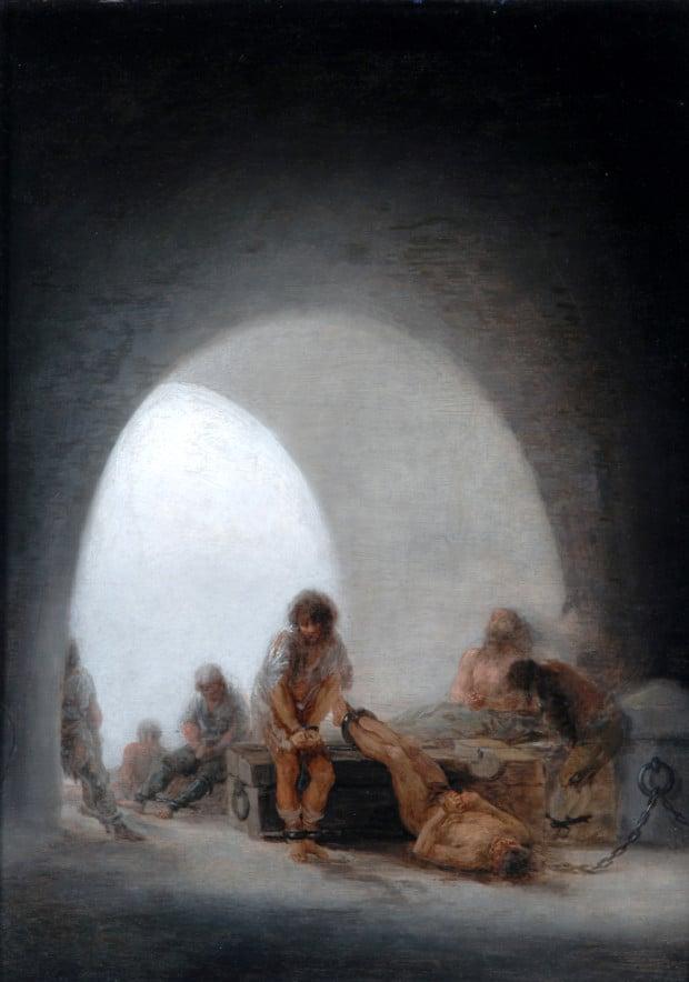 Interior of a Prison, Francisco de Goya, 1793-1794, Bowes Museum, Barnard Castle, El Greco to Goya - Spanish Masterpieces