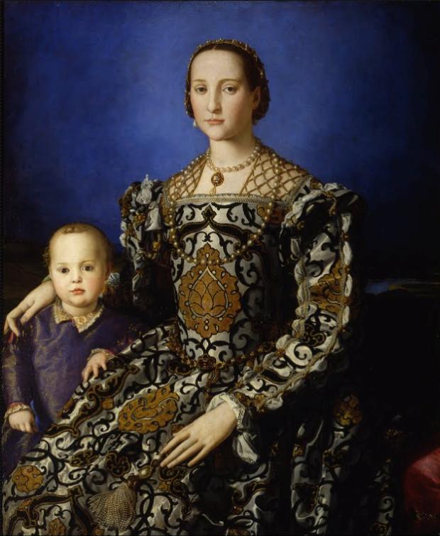Agnolo Bronzino, Eleonora di Toledo and her son, c. 1545, Uffizi, mannerism