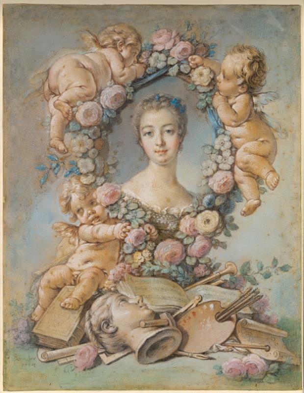 François Boucher, Madame de Pompadour, 1754, National Gallery of Victoria, Melbourne, Australia.