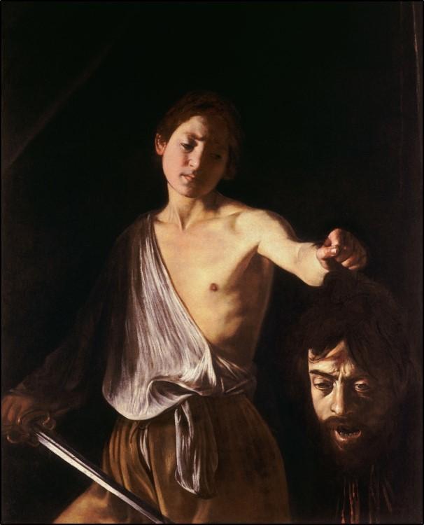 Caravaggio, David with the Head of Goliath, (c.1610, Rome, Galleria Borghese, caravaggisti