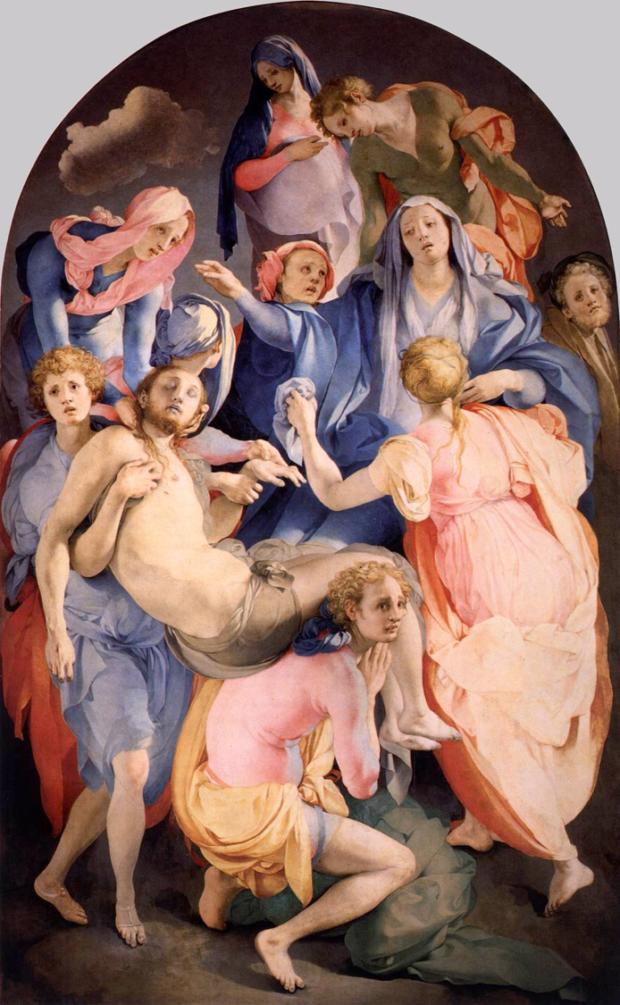 Jacopo Pontormo, Pietà / Entombment, 1525-1528, Florence, Santa Felecità, mannerism