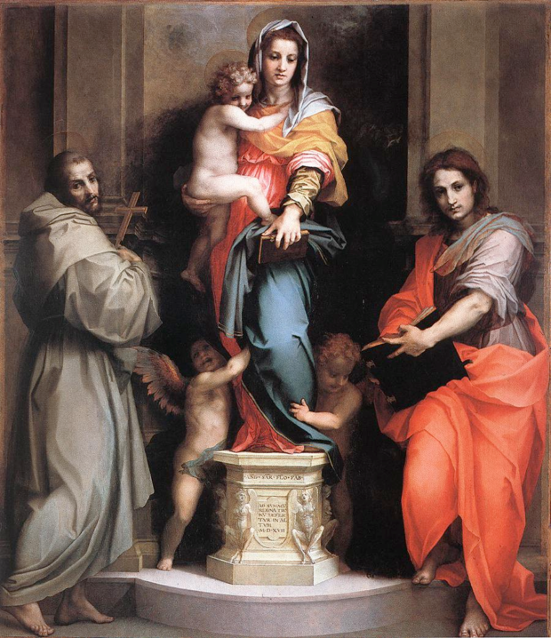 Andrea del Sarto, Madonna of the Harpies, 1516, Uffizi, mannierism