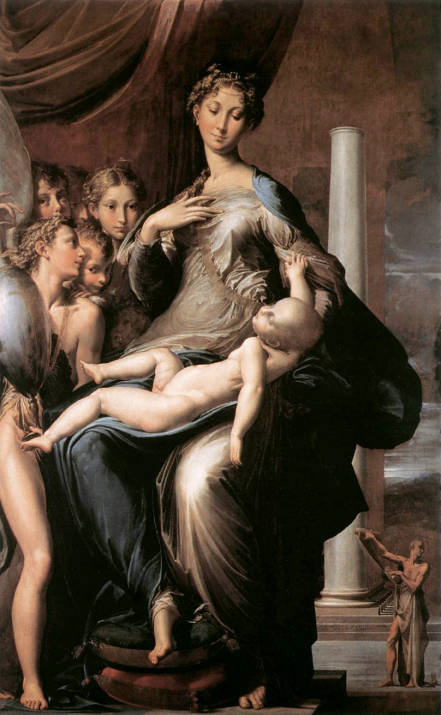 Parmigianino, Madonna of the Long Neck, 1534-1540, Florence, Uffizi, mannierism