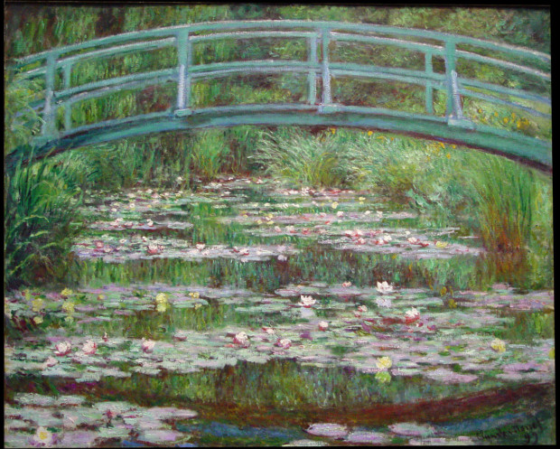Claude Monet Japanese Footbridge Claude Monet, The Japanese Footbridge, National Gallery of Art, Washington, 1922