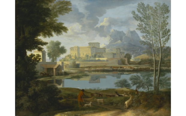 Landscape with a Calm, Poussin, 1650-1651, Getty Museum, Los Angeles, 5 greatest Baroque painters