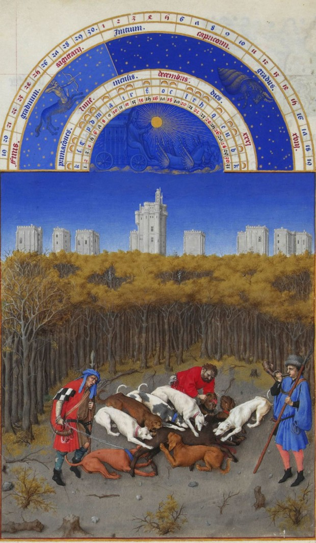 Limbourg brothers, December, Series: Très Riches Heures du Duc de Berry, c. 1416, ©Photo. R.M.N. / R.-G. Ojda, limbourg brothers
