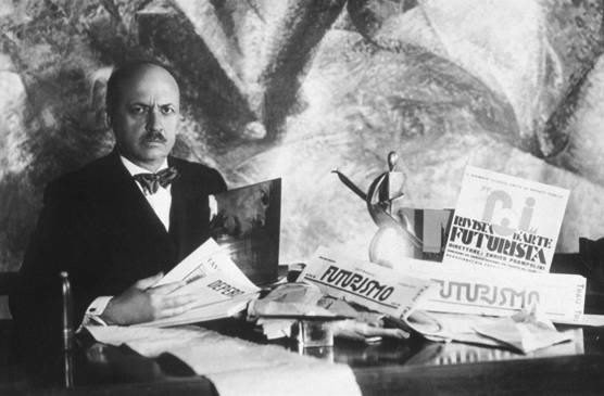 Filippo Tommaso Marinetti, author of the Futurist Manifesto.