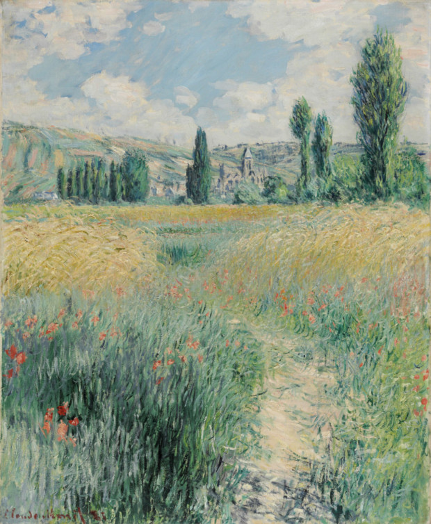 Path on the Island of Saint Martin, Claude Monet, 1881, Philadelphia Museum of Art, best landscape paintings
