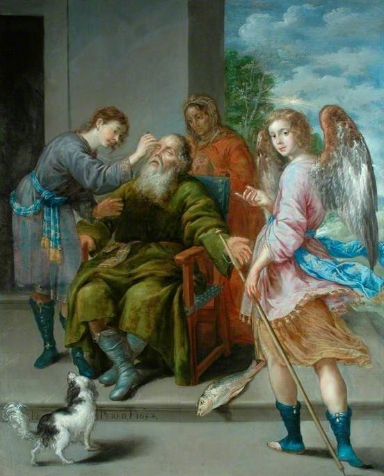 Tobias Restoring His Father's Sight, Antonio Pereda y Salgado, 1652, Bowes Museum, Barnard Castle, El Greco to Goya - Spanish Masterpieces