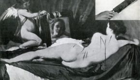 Vandalised 'Rokeby Venus', 1914