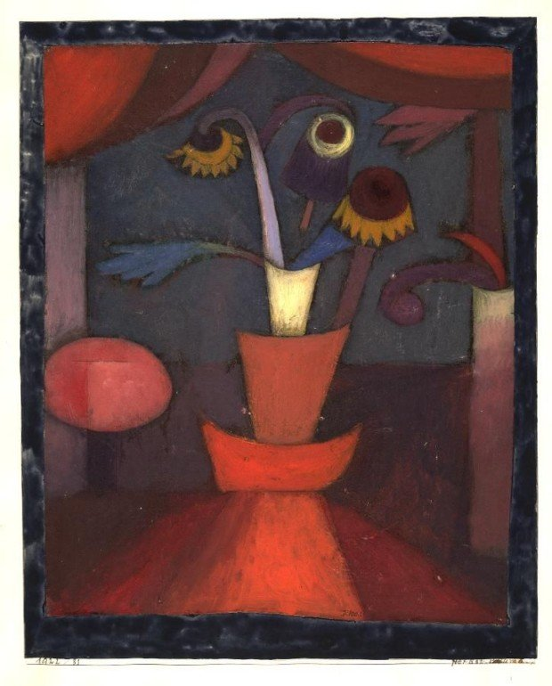 Paul Klee, Autumn Flower, 1922, The Yale University Art Gallery, New Haven, autumn klee