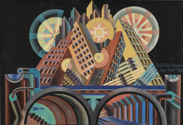 Manifesto of Futurism Fortunato Depero, Skyscrapers and Tunnels (Gratticieli e tunnel), 1930 (detail) Fortunato Depero, Skyscrapers and Tunnels (Gratticieli e tunnel), 1930 (detail)