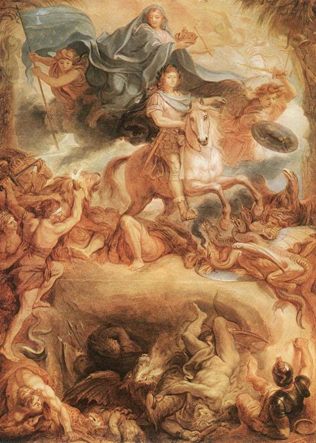 Charles Le Brun, Apotheosis of Louis XIV, 1677, Budapest, Szépmûvészeti Múzeum, portraits louis xiv
