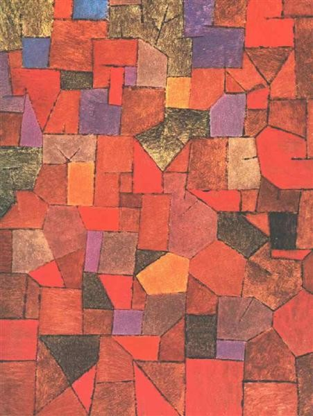 Paul Klee, Mountain Village (Autumnal), 1934, Galerie Rosengart, Lucerne, Switzerland, autumn klee