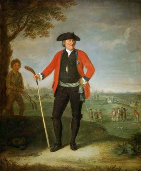 David Allan, William Inglis, Surgeon and Captain of the Honourable Company of Edinburgh Golfers, 1787, National Galleries of Scotland, Scottish National Portrait Gallery, golf painting