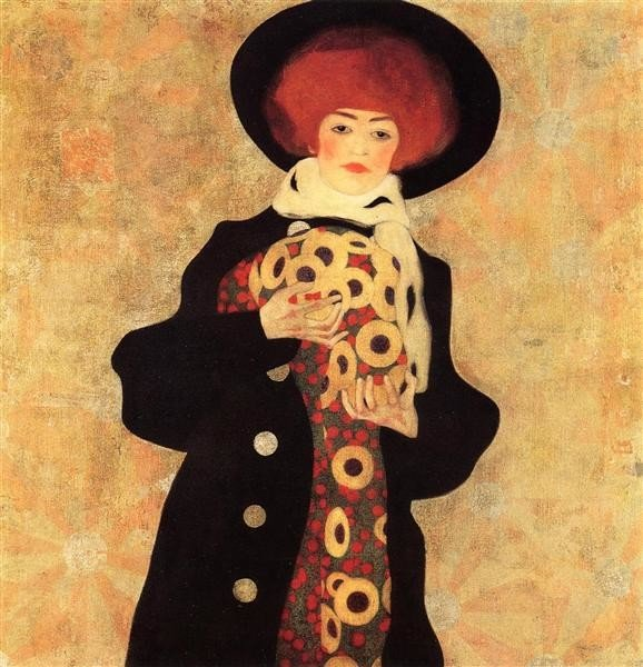 Egon Schiele, Woman with Black Hat, 1909, Private Collection, hats from painting