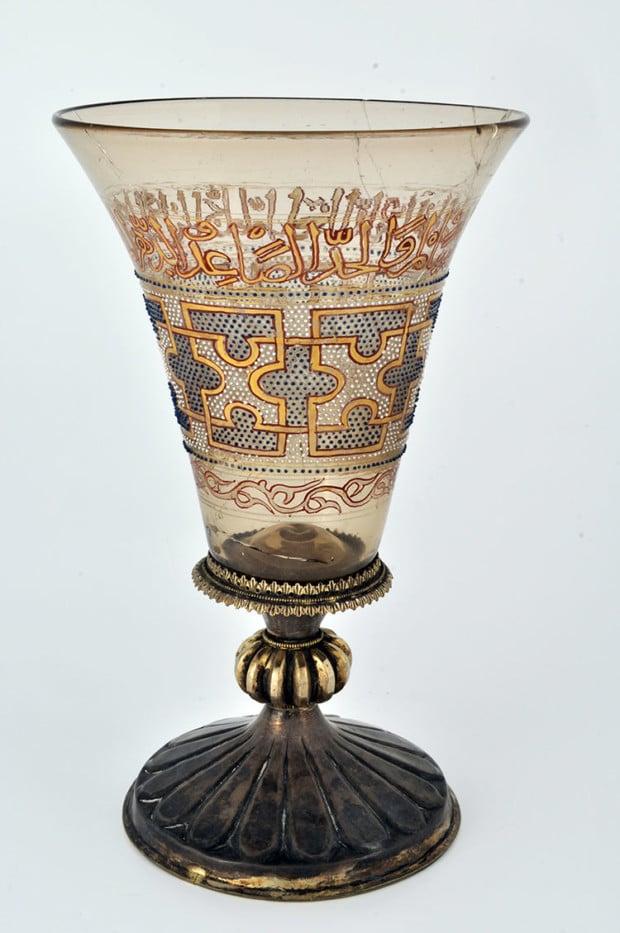 """musee cluny glass Hanap dit """"Verre de Charlemagne"""", Provenant du trésor de l'église de Châteaudun, 13th-14th century, musée des Beaux-Arts de Chartres, Inv. 5144 © musée des Beaux-Arts de Chartres"""