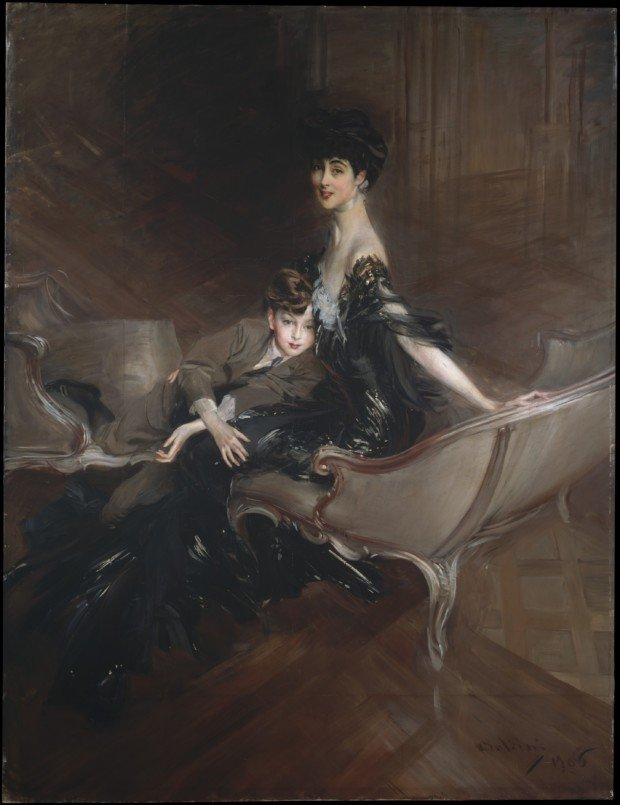 Consuelo Vanderbilt and Her Son by Giovanni Boldini