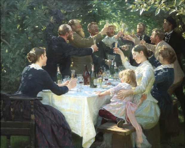 Hip hip hurra!, Peder Severin Krøyer, 1888, Gothenburg Museum of Art, Marie and Peder Severin Krøyer