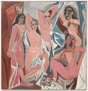 Les Demoiselles d'Avignon, Pablo Picasso, 1907, Museum of Modern Art, New York, Montmartre - thr Home to Many Inspirations