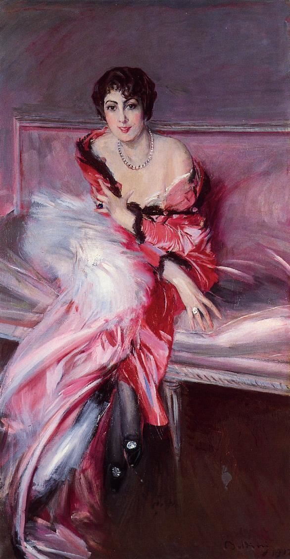 Madame Juliard in Red by Giovanni Boldini