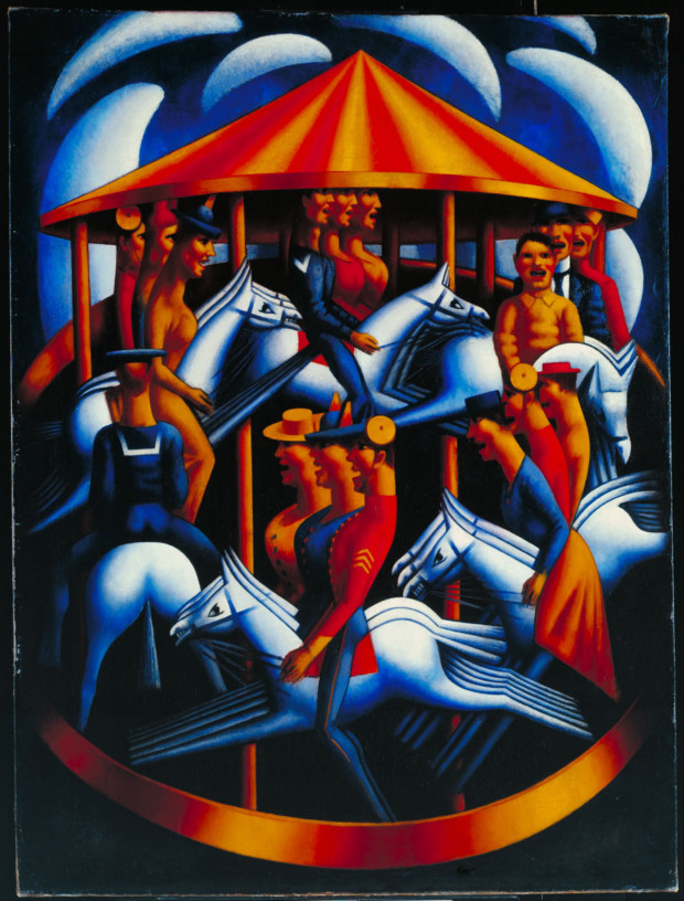 Mark Gertler (1891-1939) - The Merry Go Round (1914) Tate, London Carousels in art