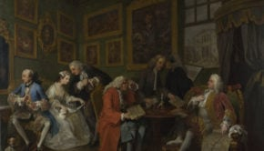 Marriage à-la-mode, William Hogarth, 1743, National Gallery, London, Marriage à-la-mode - William Hogarth
