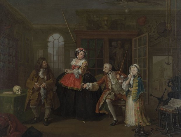 The Inspection, William Hogarth, 1743, National Gallery, London, William Hogarth – Marriage à-la-mode