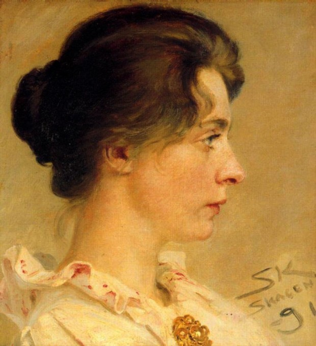 Marie in Profile, Peder Severin Krøyer, 1891, Location Unknown, Marie and Peder Severin Krøyer