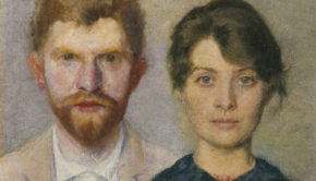 Portrait of a Married Couple, Peder Severin Krøyer, 1890, Skagens Museum, Denmark, Marie Triepcke Krøyer Alfvén and Peder Severin Krøyer