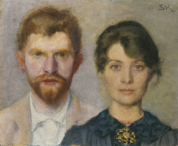Portrait of a Married Couple, Peder Severin Krøyer, 1890, Skagens Museum, Denmark, Marie and Peder Severin Krøyer