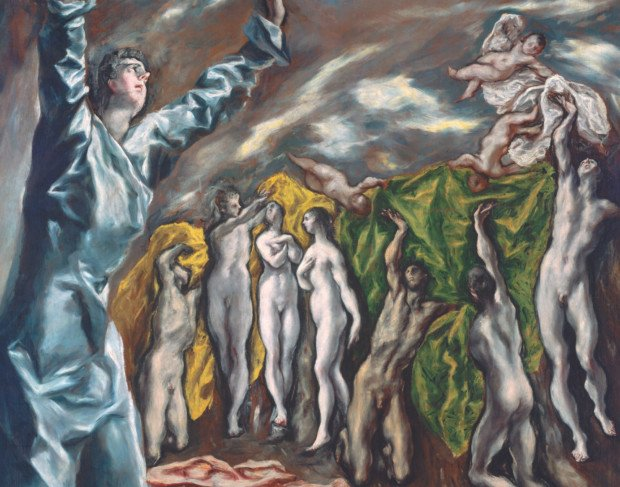 El Greco, Vision of Saint John, (1608) Metropolitan Museum of Art, New York , influence of El Greco on expressionism