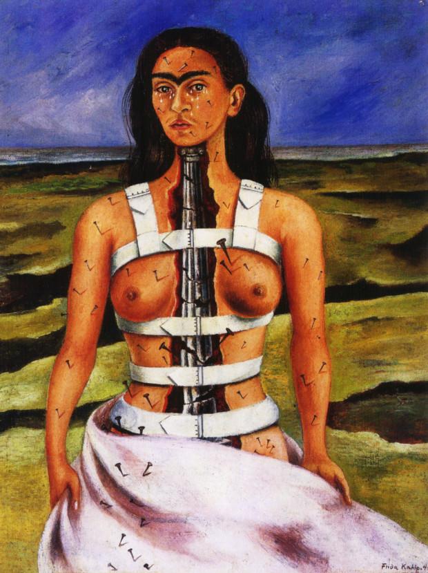 Frida Kahlo, The Broken Column, 1944, Museo Dolores Olmedo Broken Column frida kahlo