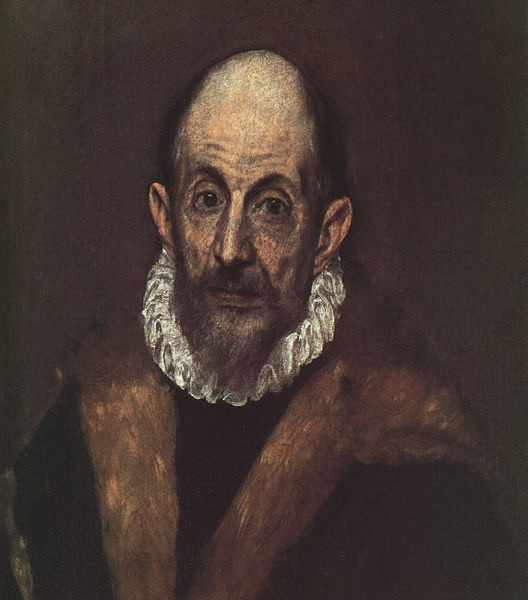 El Greco, Portrait of a Man (1595-1600) Metropolitan Museum of Art, New York , influence of El Greco on expressionism