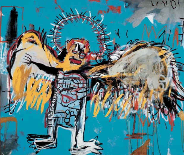 Basquiat Painting Jean-Michel Basquiat, Fallen Angel, 1981