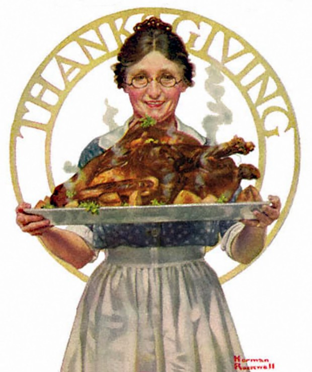 Norman Rockwell thanksgiving 1919-11-22-The-Literary-Digest-Norman-Rockwell-cover-Thanksgiving_1a