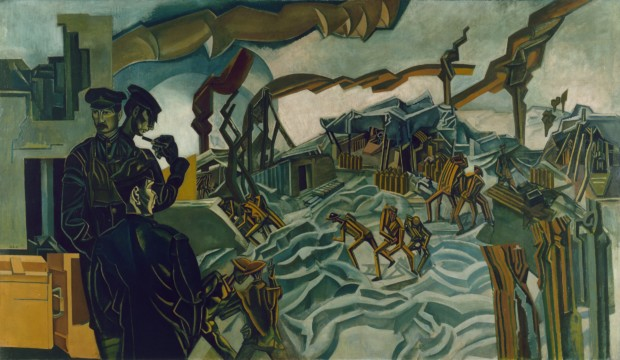 Wyndham Lewis: Life, Art, War - A Battery Shelled , Wyndham Lewis © IWM Art.IWM ART 2747
