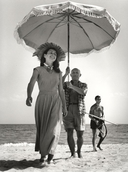 Francoise Gilot and Pablo Picasso, Robert Capa, 1948, Pablo Picasso and his Women