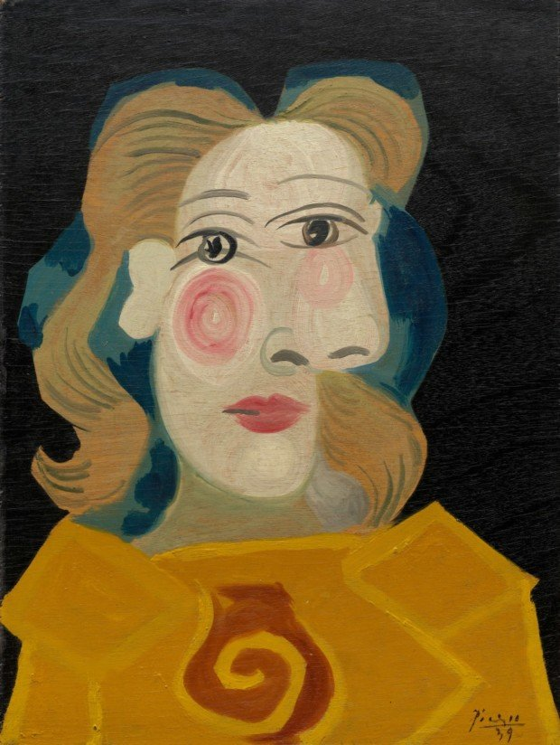 Head of Woman (Dora Maar), Pablo Picasso, 1939, Guggenheim Museum, Pablo Picasso and his Women