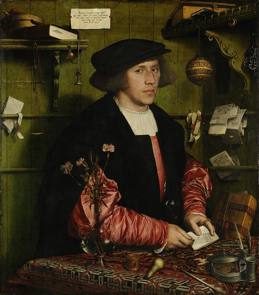 Hans Holbein the Younger, The Merchant Georg Gisze, 1532, Oil on panel, 97.5 x 86 cm, Gemäldegalerie, Staatliche Museen zu Berlin, ottoman carpets paintings
